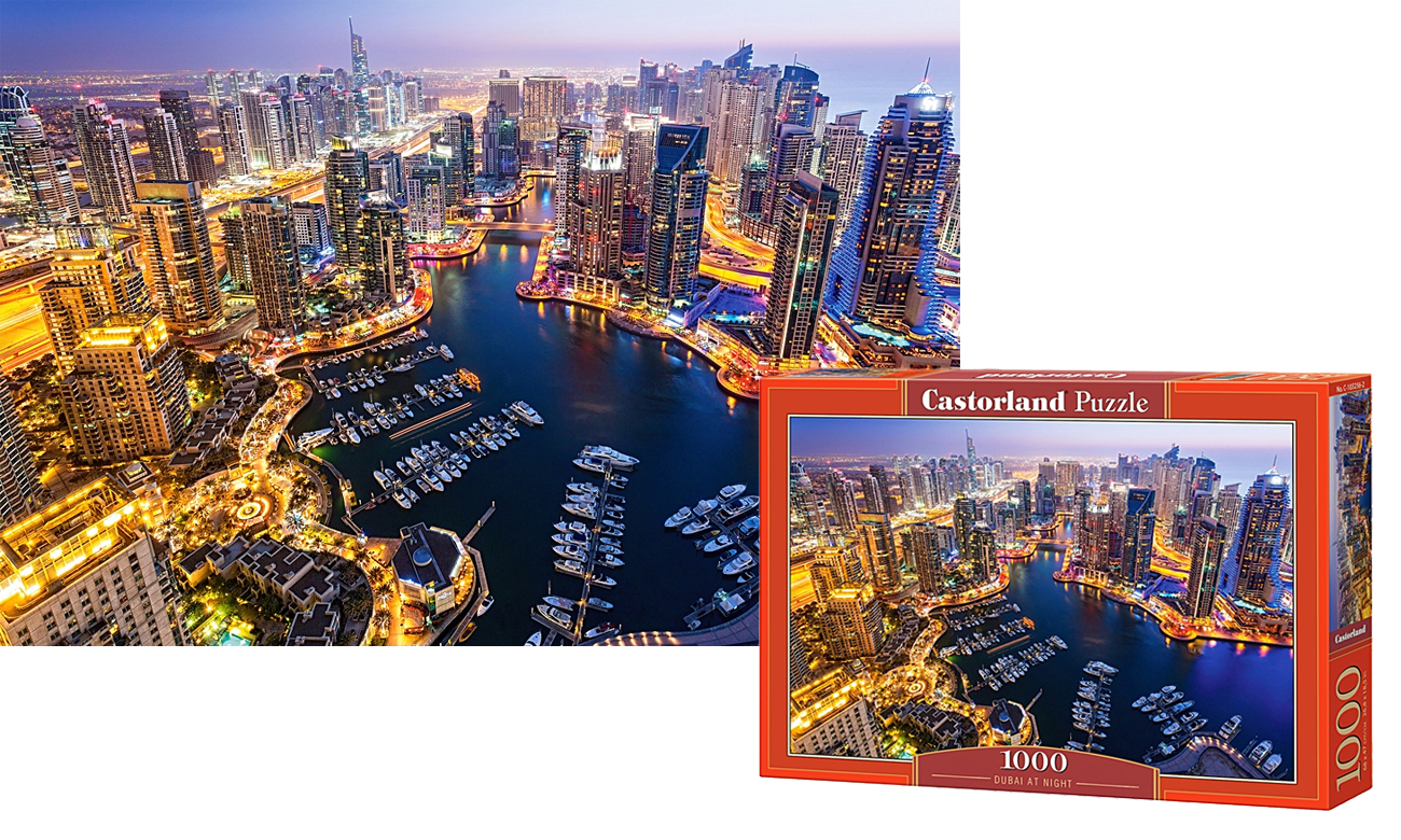Dubai at Night - 1000 dielikov